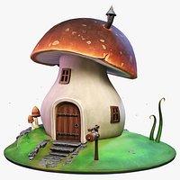 Stylized Mushroom House
