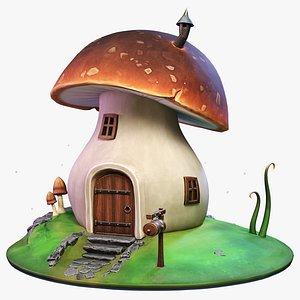 3D model Stylized Mushroom House