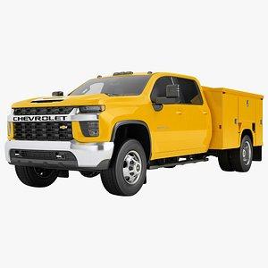 3D Chevrolet Silverado 3500 HD 2021 Enclosed Utility 02