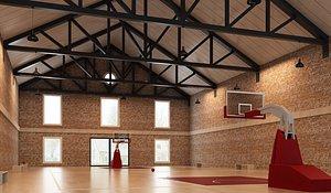 3D model Basketball Hall03