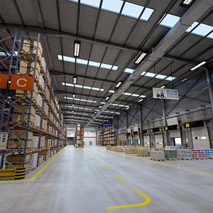 Big Full Warehouse 3D model