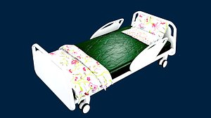 HOSPITAL BED FOR KIDS 3D