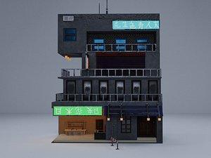 3D Cyberpunk Building 4 model