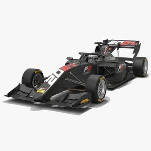 Formula 3 Dallara F3 2021 3D model