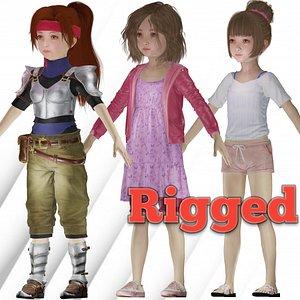 3D Sumaira Beautiful realistic Girl character Low-poly 3D model model
