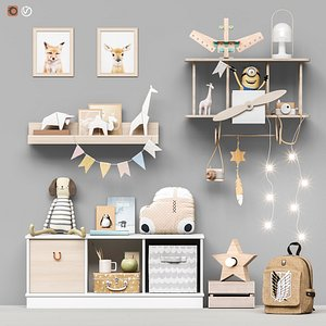 3D Toys and furniture set 96 model