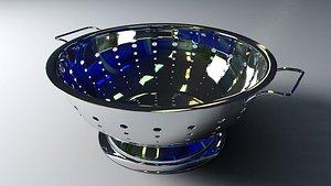 3D model colander kitchenware