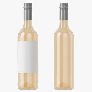 Wine bottle mockup 06 screw cap 3D