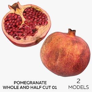 Pomegranate Whole and Half Cut 01 - 2 models model