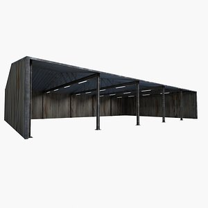 3D warehouse shed model
