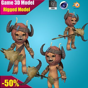 3D Cartoon Monkey model