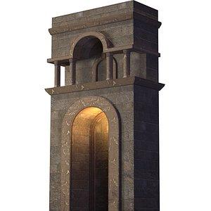 stone fortress wall model