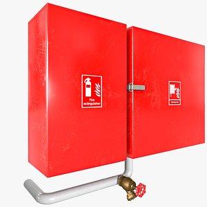 3D model Fire Extinguisher Box