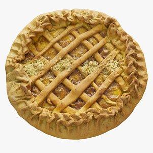 3D apple pie model