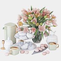 Spring tulips set