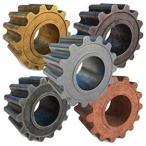 3D realistic metalic gears