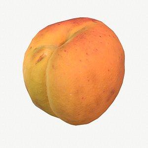 06 apricot fruit modeled 3D model