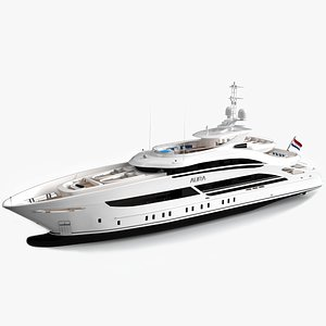 3D luxury yacht aura model