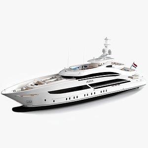 3D luxury yacht aura model