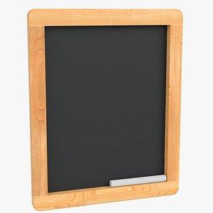 3D wood chalkboard frame chalk model