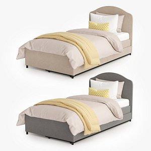 3D model bed hauga