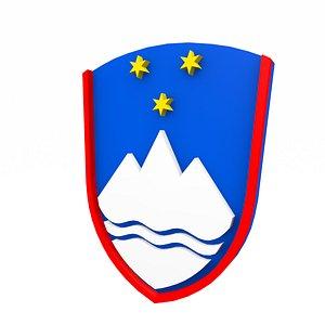 3D Slovenian coat of arms