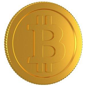 3D model bitcoin b coin