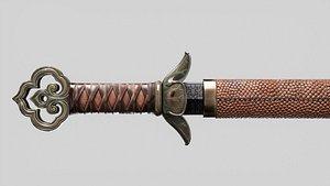 aaa sword korean 3D model