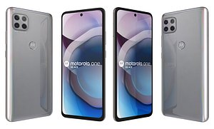 Motorola One 5G Ace Frosted Silver 3D