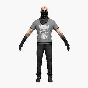 biker demon 3D model