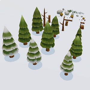 3D forest pine pack