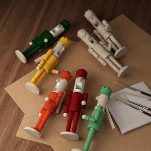 nutcracker wood model