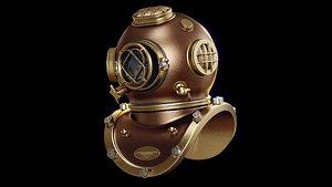 diver helmet dive 3D