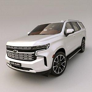 3D model 2021 Chevrolet Tahoe RST