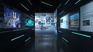 exhibition office interior 3D