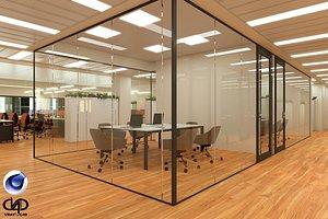 Office C4D Vray 5 3D model