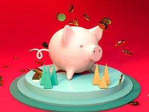 3D Piggy bank