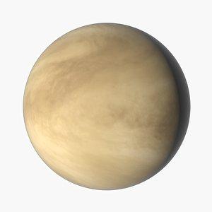 realistic planet venus 3D model