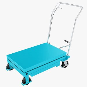Mobile Hydraulic Trolley 02 3D model