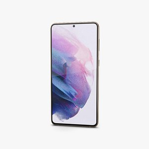 3D Samsung Galaxy S21 plus 5G Phantom Violet model
