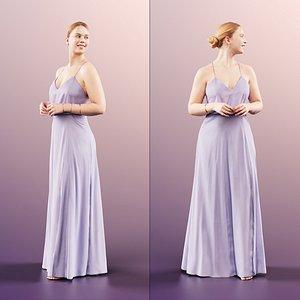 woman gown 3D model
