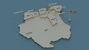 3D state cities capital