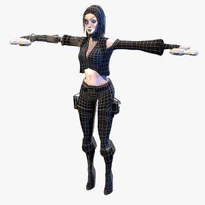 3D model female pirate eye