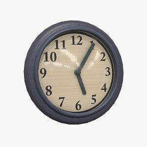 3D wall clock - pbr model
