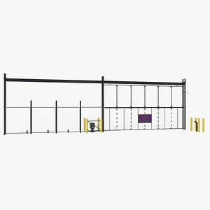 3D Industrial Gate Fance