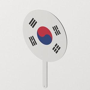 3D model Korean Hand Fan