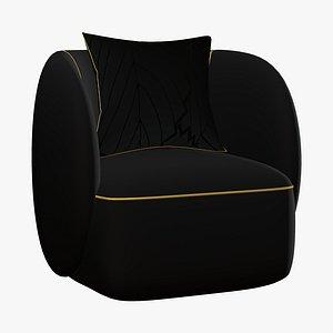 3D model Sofa Chair Luxury Modern