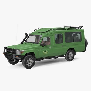 Toyota Land Cruiser Safari Green Clean Rigged model