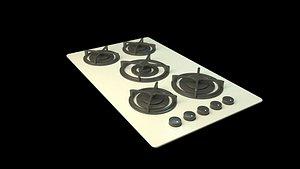 3D free 3d cooktop model model