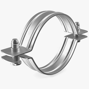 Stainless Steel Pipe Clamp 3D model